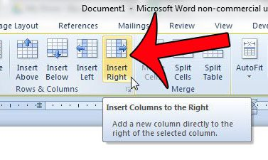 How to insert a column into a table in word 2010 solve your tech - How to add a column in a table ...