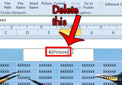 how to put pictures in excel header