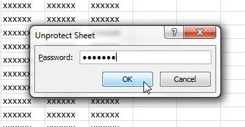 forgot password excel 2010