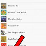 select the stations tab