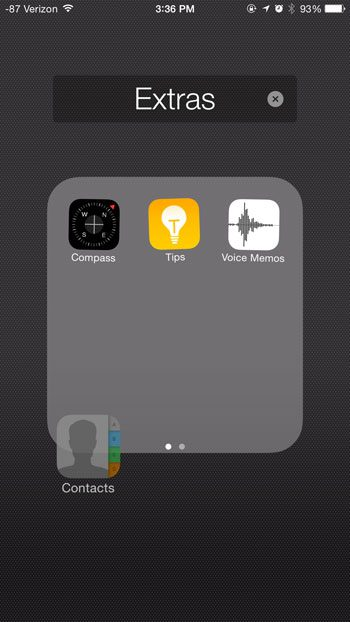 Where is the Contacts Icon on the iPhone 6? - Solve Your Tech