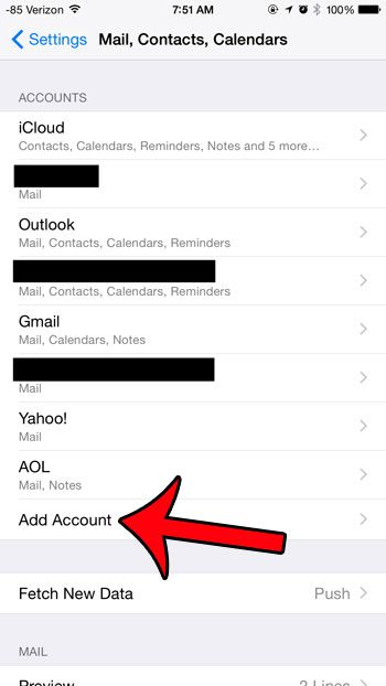 how to remove an email account on iphone 8