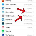 locate an app with an arrow next to it