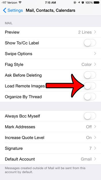 turn off the load remote images option