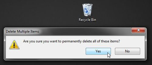 delete all items permanently