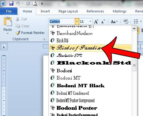 microsoft word fonts free download windows 7