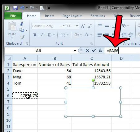 How to Display a Formula Result in a Text Box in Excel 2010 - Solve
