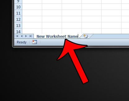 How to Change a Worksheet Name in Excel 2010 - Solve Your Tech