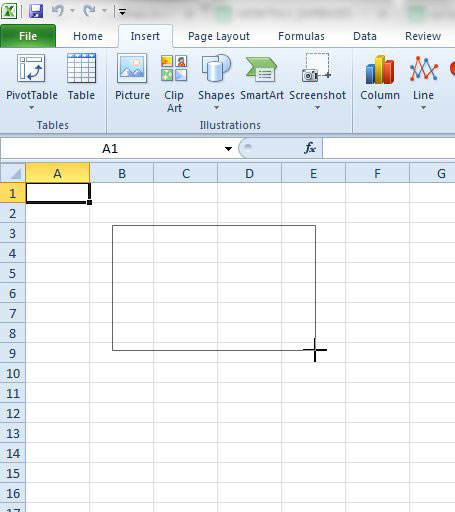 how to insert a text box in excel