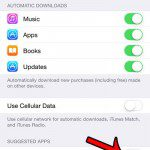 turn off my apps and app store under suggested apps
