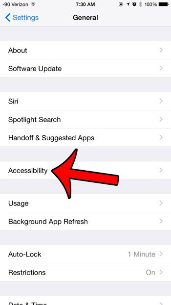 select accessibility