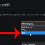 click the no option under open spotify
