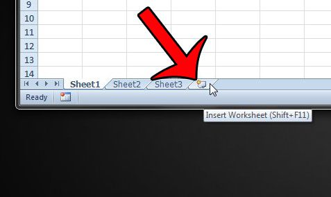 insert new worksheet tab