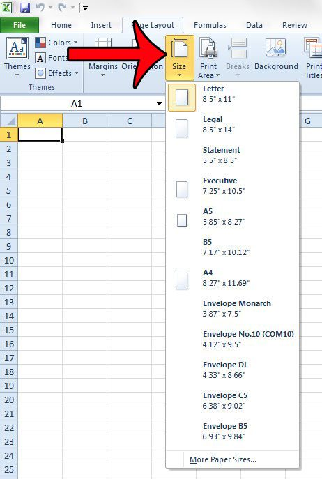 How to Change Page Size in Excel 2010 - Solve Your Tech
