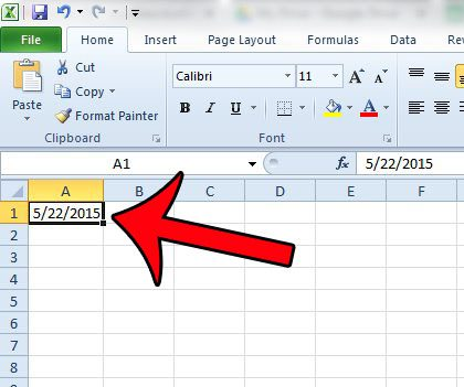 how to show current date in excel