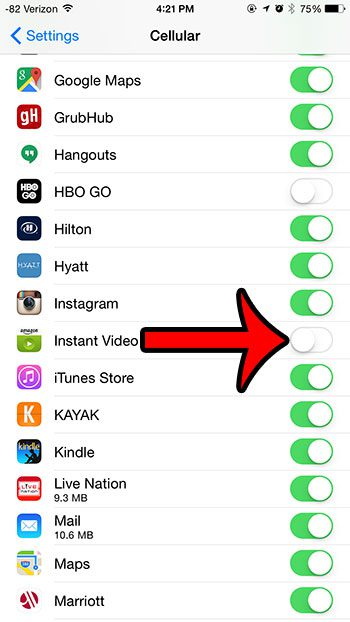 turn off the instant video option