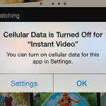 turn off cellular data usage for instant video on iphone