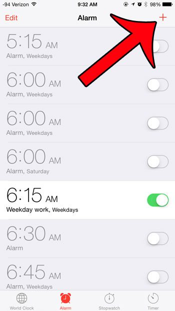 iphone alarm clock screen
