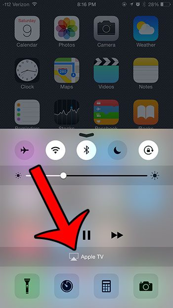 select the airplay option