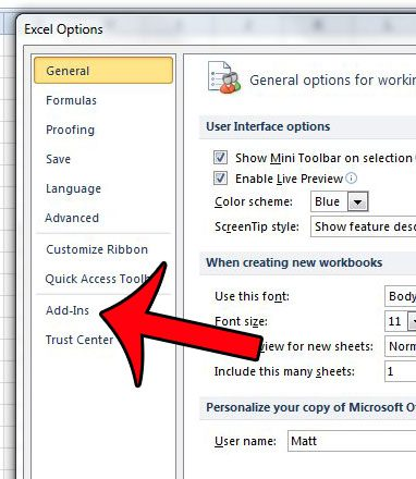 how to remove excel add in