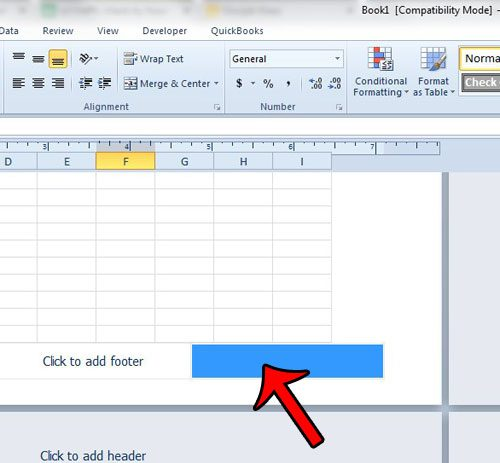How to Put the Worksheet Name in the Footer of an Excel 2010 ...
