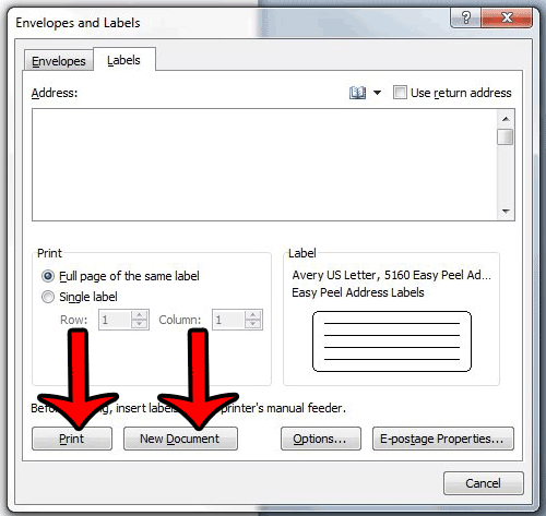 How to Choose an Avery Label Template in Word 2010 - Solve