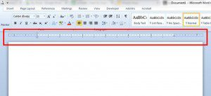 the ruler in word 2010