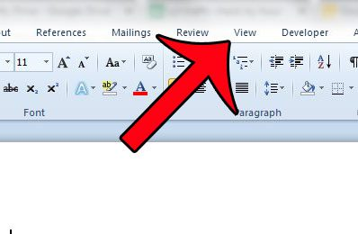 how to show the taba in word 2010
