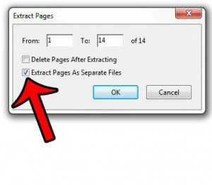 extract pages to separate files