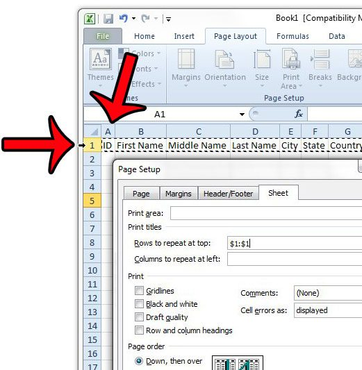 How To Print Titles In Excel 2010