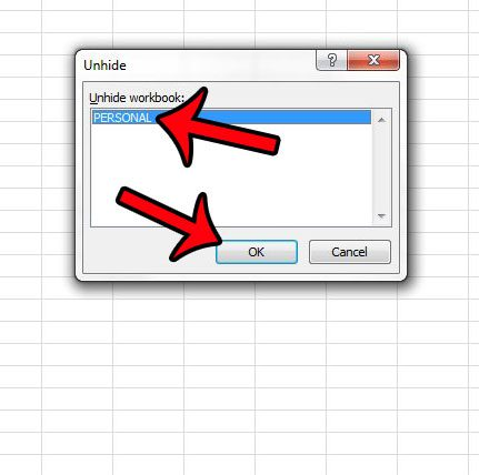 select the hidden workbook, then click ok