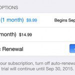 turning off automatic renewal in apple music