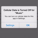 turn off cellular data for apple music