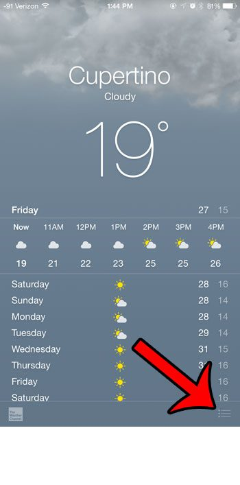 How To Switch From Celsius To Fahrenheit In The Iphone Weather App