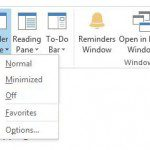 how to hide the folder pane in outlook 2013