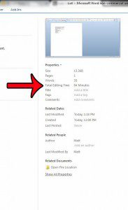 view the total editing time value