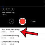 select the recording to delete