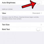 turn off the auto-brightness option