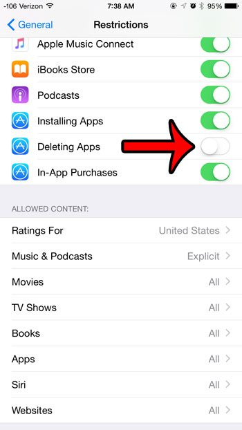 stop apps from being deleted
