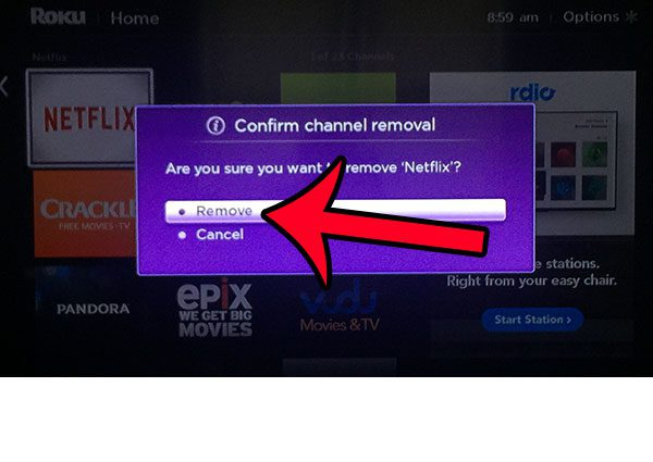 confirm channel removal