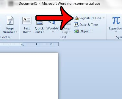 how to add a signature line in word 2010 - solve your tech