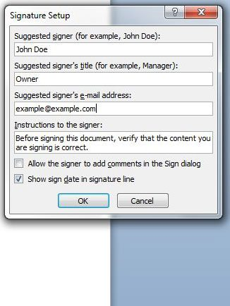 how to draw signature in word