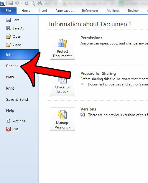 How To Delete A Single Recent Document In Word 2010