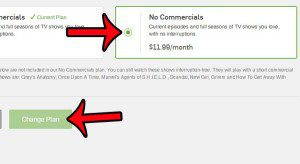 select the no commercials option