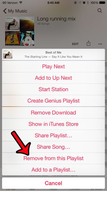 removing music from iphone