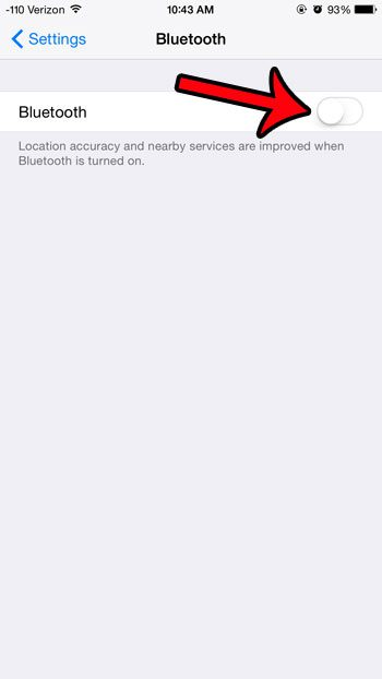 turn off the bluetooth option