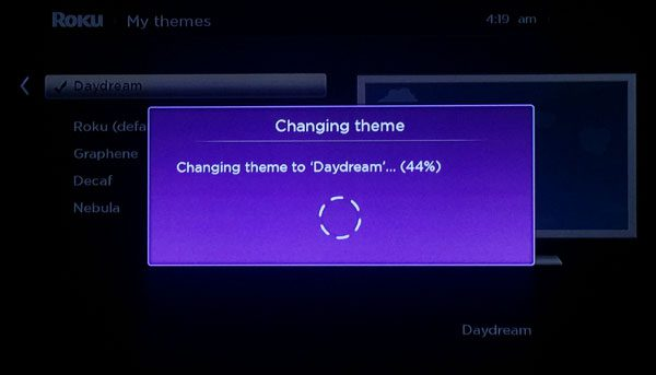 changing a theme on a roku 3