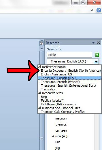 How to Use the Thesaurus in Word 2010 - Solve Your Tech