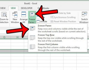 freeze multiple rows in excel 2013