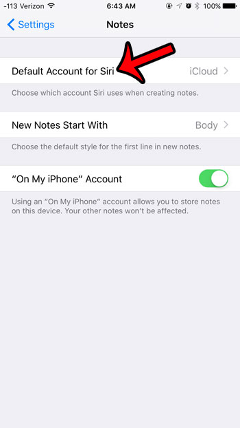 select default account for Siri